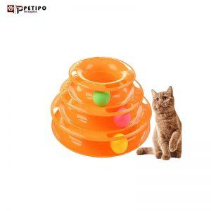اسباب بازی گربه با توپ گردون سه طبقه برند دی پی اس