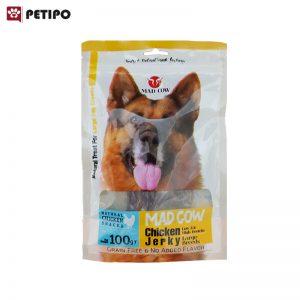 تشويقي سگ مرغ0 و گوشت مدکاو اندازه بزرگ وزن 100 گرم