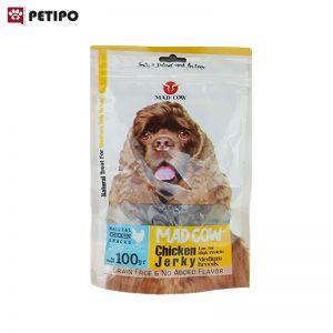 تشويقي سگ مرغ و گوشت مدکاو اندازه متوسط وزن 100 گرم