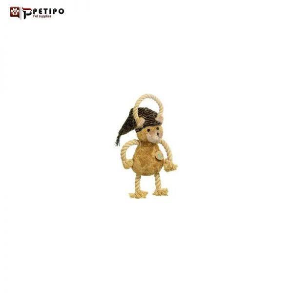 عروسک خرس صدا دار همراه با طناب سگ