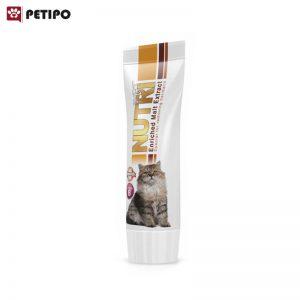 عصاره مالت گربه دفع کننده گلوله های مو نوتری (Nutri Anti Hairball Malt Paste) وزن 80 گرم