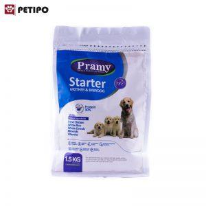 غذاي خشک سگ استارتر توله و مادر شیرده پرامی (Pramy Starter Dog Food) وزن 1.5 کیلوگرم