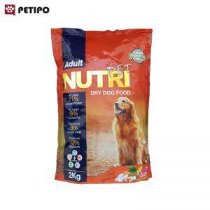 غذاي خشک سگ بالغ نوتری (Nutri Adult Dog Food) وزن 2 کیلوگرم