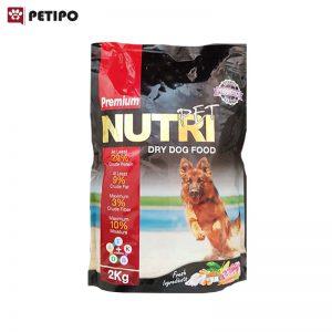غذاي خشک سگ بالغ پریمیوم پروبیوتیک نوتری (Nutri Adult Premium Probiotic Dog Food) وزن 2 کیلوگرم