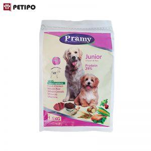 غذاي خشک سگ جونیور طعم مرغ پرامی (Pramy Junior Dog Food) وزن 1.5 کیلوگرم