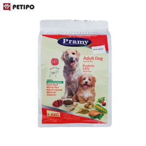 غذاي خشک سگ 0مینی ادالت طعم بیف پرامی (Pramy Mini Adult Dog Food) وزن 1.5 کیلوگرم