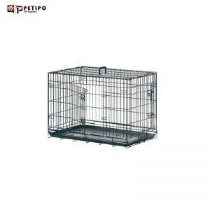 قفس مشکی سگ برند فلامینگو 93سانت با سینی پلاستیکی