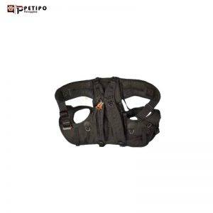 working dog carrier suit black .xl-کوله پشتي حمل سگ