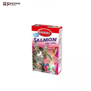 قرص گربه با ويتامين طعم ماهي سالمون