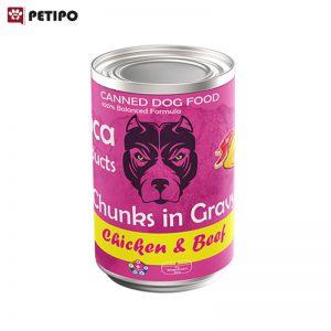 غذای-کنسرو-سگ-گوشت-و-مرغ-لوکا-وزن-425-گرمي-01