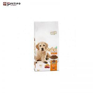غذای خشک سگ رفلکس مدل Puppy (پاپی) طعم بیف وزن 15 کیلوگرم