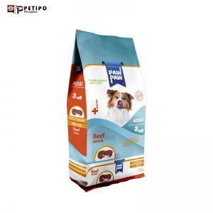 غذای خشک سگ پاو پاو مدل Adult (بزرگسال) طعم بیف وزن 3 کیلوگرم