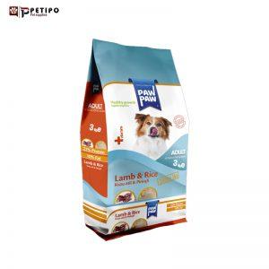 غذای خشک سگ پاو پاو مدل Adult (بزرگسال) طعم گوشت بره وزن 3 کیلوگرم