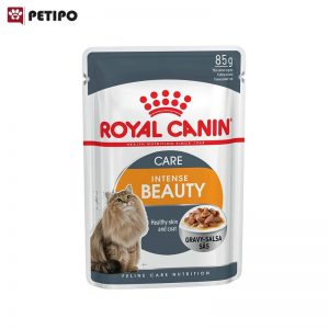 غذای-پوچ-گربه-اینتنس-بیوتی-رویال-کنین-(Royal-Canin-Cat-Intense-Beauty-Wet-Food-Pouch)-وزن-85-گرم--001