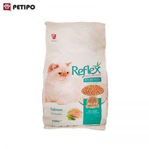 غذای خشک گربه عقیم شده رفلکس با طعم ماهی وزن 1.5 کیلوگرم